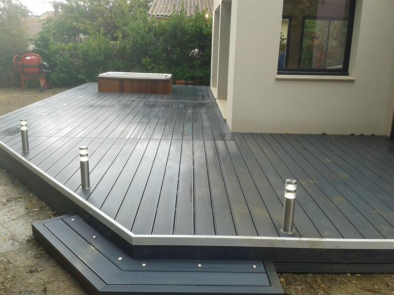 Terrasse en composite sur pilotis - Tarif terrasse composite ...